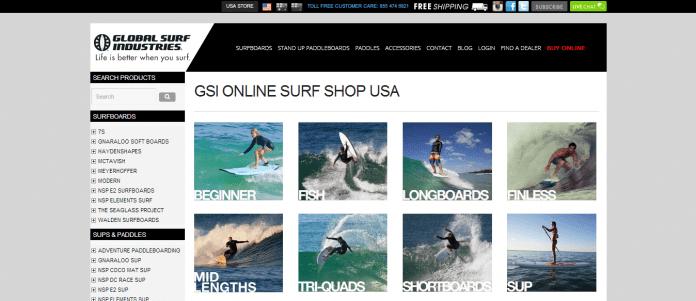 Comprando prancha de surf nos EUA: Global Surf Industries, Viagem pelo Mundo blog