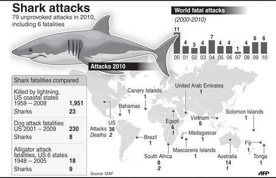Ataque de Tubarão surfista