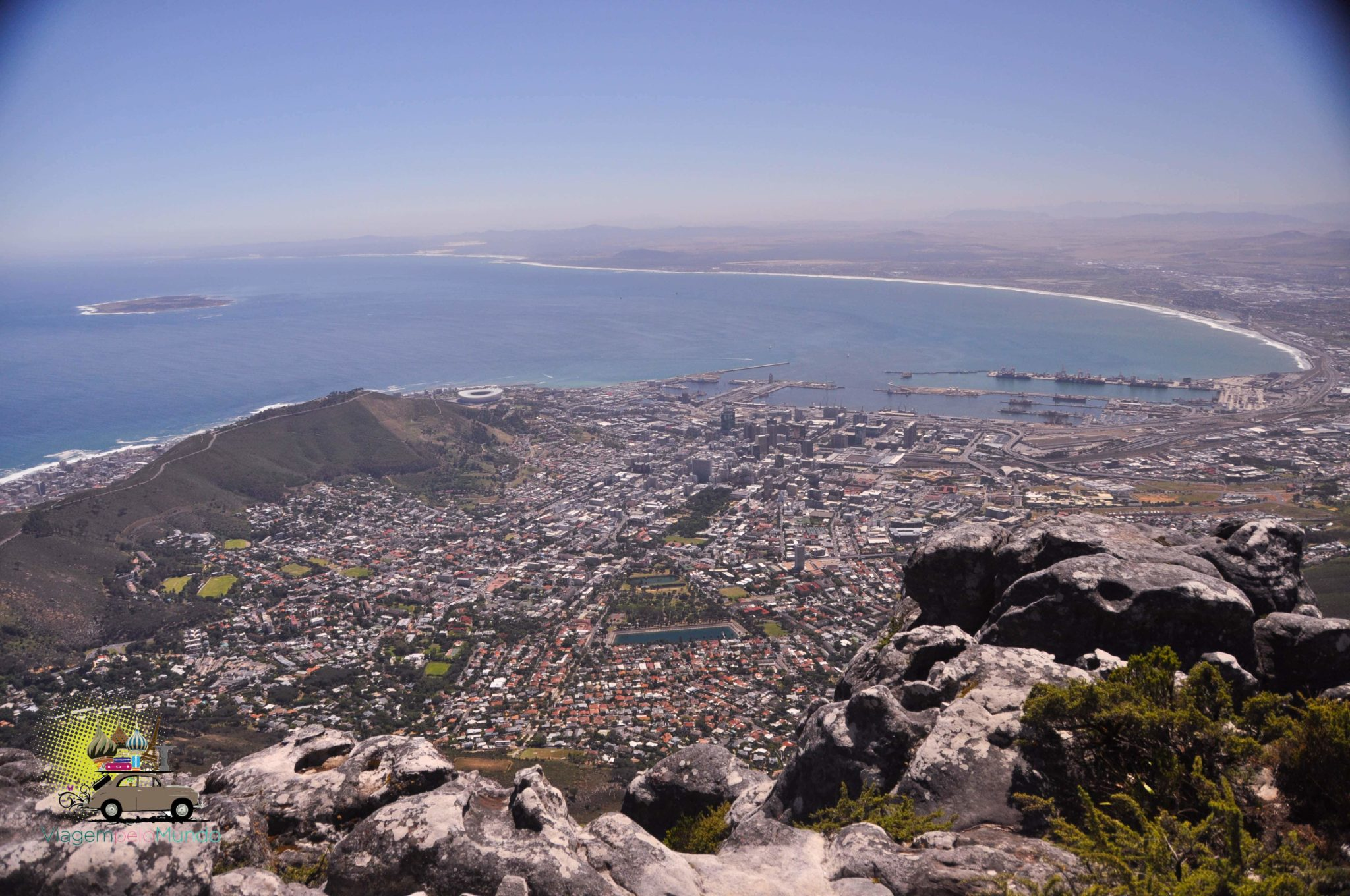 Table Mountain (Montanha da Mesa) em Cape Town