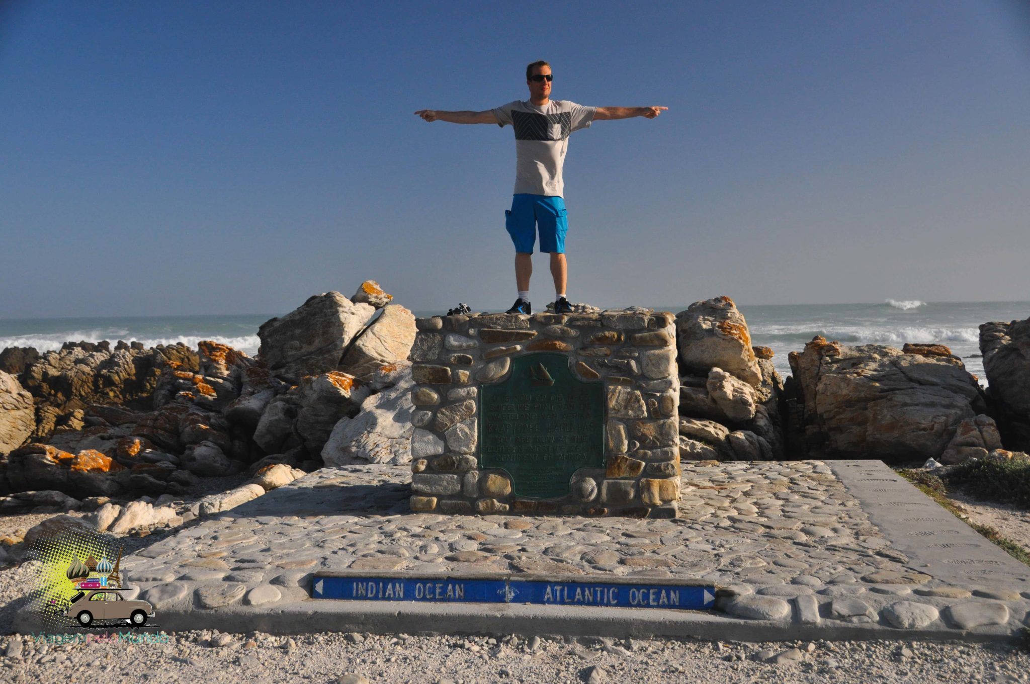 Cape Agulhas: entre os oceanos Atlântico e Índico