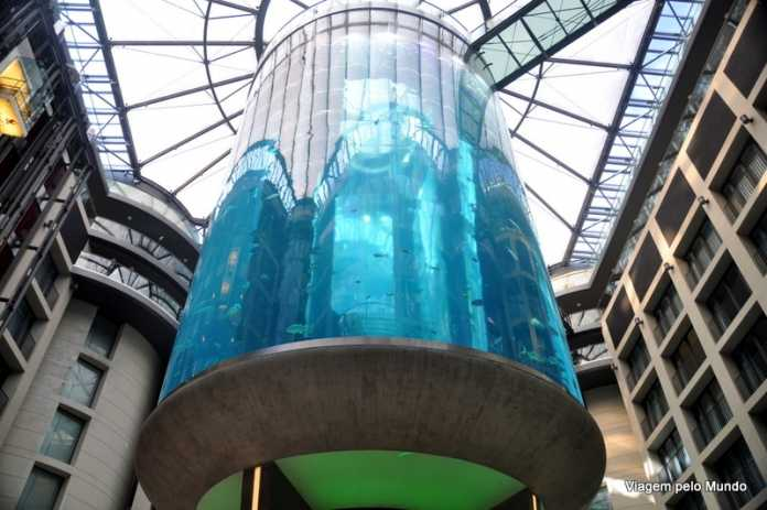 Aquário gigante em Berlim: filme Praia do Futuro