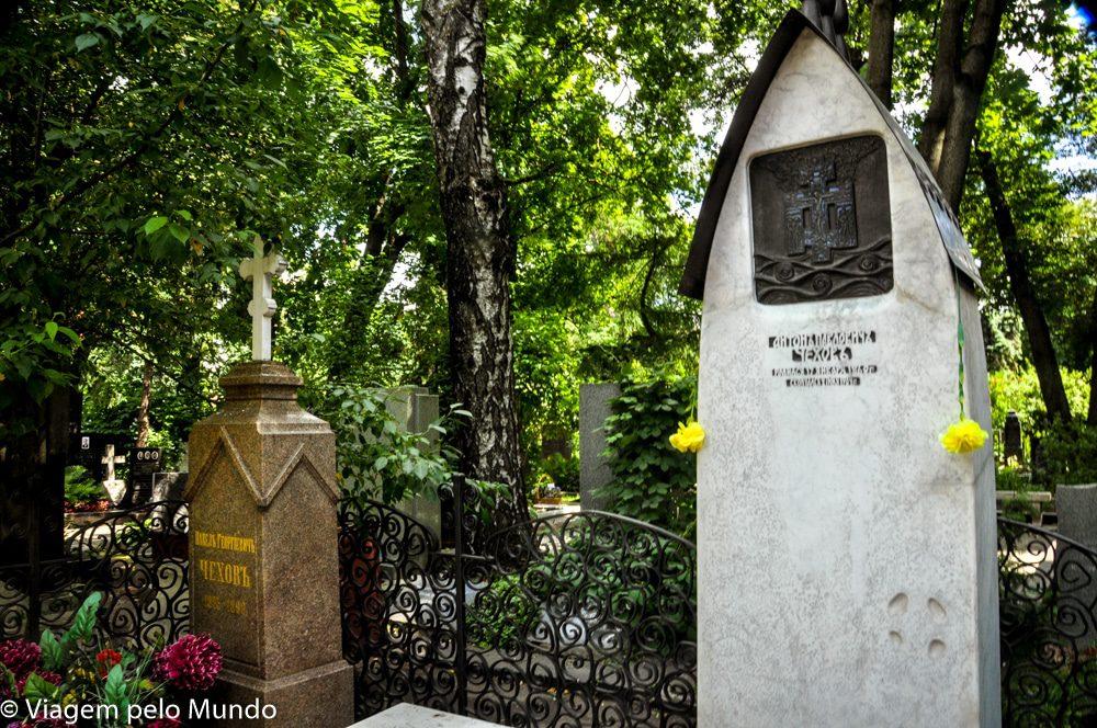 Cemitério e Convento Novodiévitch em Moscou