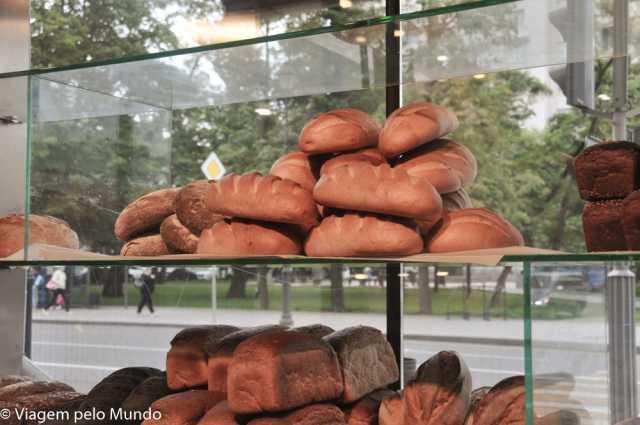 Padaria Bulka em Moscou, Rússia: para comer bem