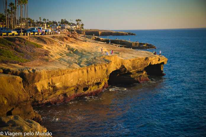 Sunset Cliffs por do sol San Diego
