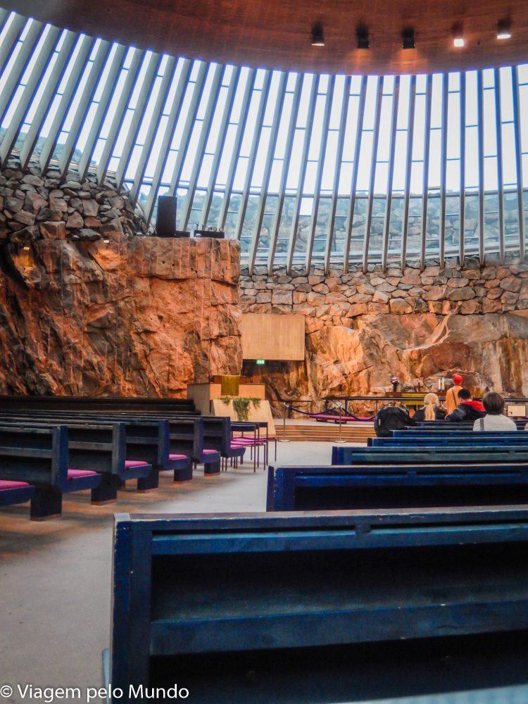 Igreja de Pedra em Helsinque