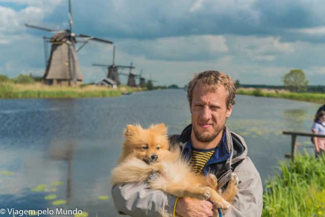 viagem cachorro Kinderdjik Holanda