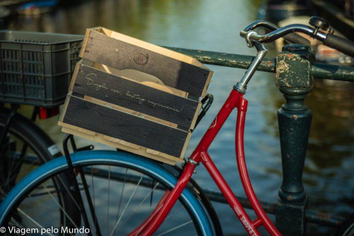 Transporte em Amsterdam bicicleta